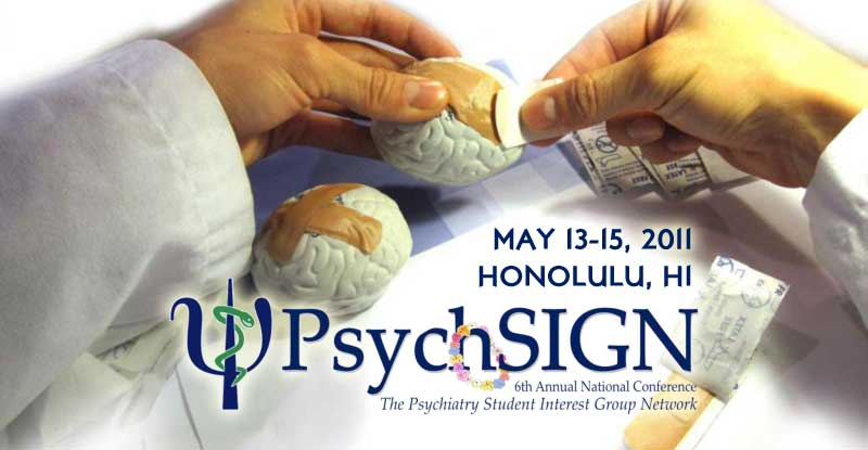 PsychSIGN image of a doctor's hands applying bandages to a brain
